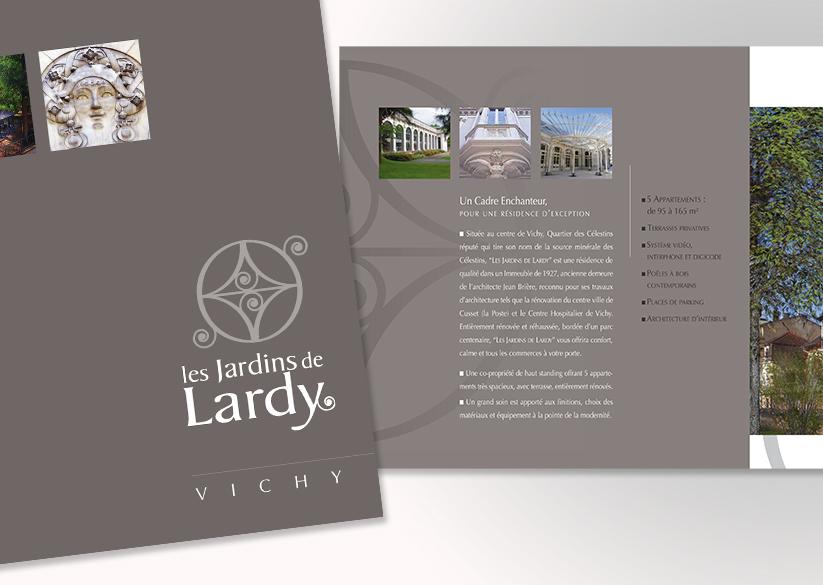 VILLA LARDYCréation du LogoPlaquette 2 volets
